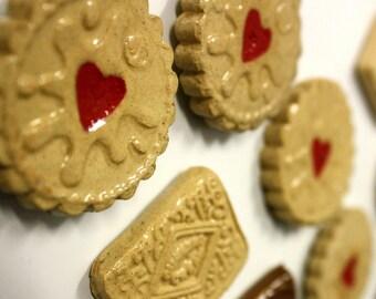 Retro Biscuit Fridge magnets