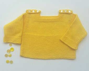 100% Cotton Handknitted Baby Blouse