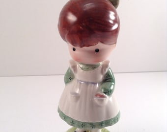 Vintage Joan Walsh Anglund Girl with Doll Figurine - Made in England