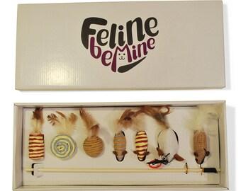 Cat Wand Deluxe - Premium Cat Toy Box