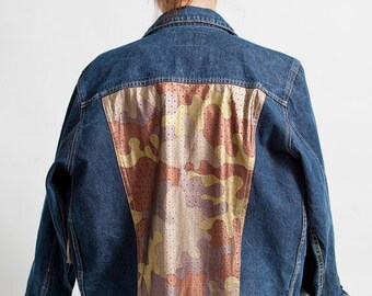 denim jacket MORO jeans vintage oversize customized DEKLEKT
