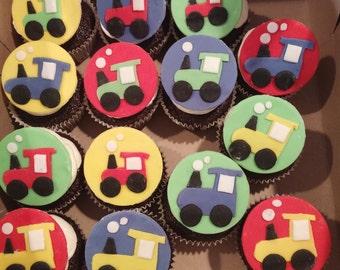 Chuddington train cupcake toppers