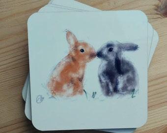 Bunnies coaster