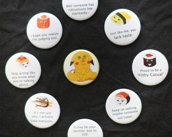 Smug Sushi Buttons