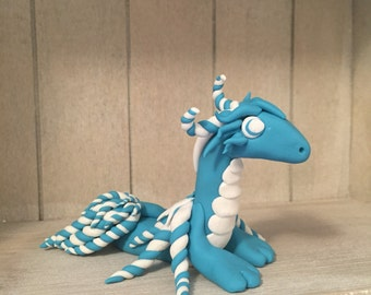 clay dragon- dragon sculpture- polymer clay- polymer clay dragon- handmade