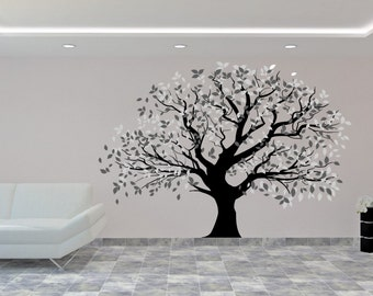 Tree Wall Decal - Big Tree Wall Sticker - Beautiful Tree Wall Decal - Vinyl Sticker - Home Decor