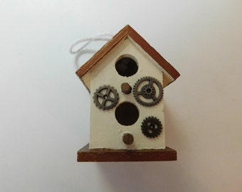 Miniature birdhouse steampunk