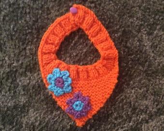 Dog or cat bandana kerchief neck tie flower power