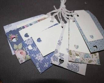 Handmade beautiful shabby chic gift tags