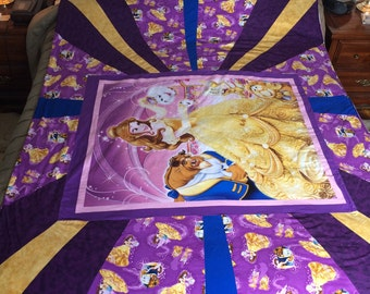 Handmade Beauty and the Beast Quilt