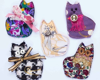 Pretty Kitty Brooches