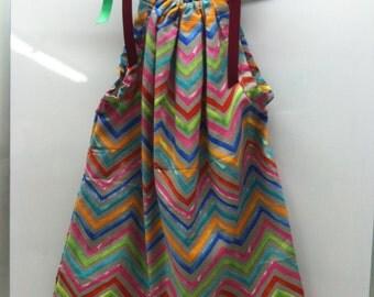 Multi Clorored ZIG ZAG Dress.