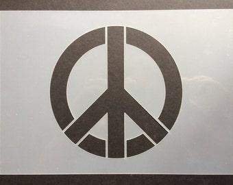 Peace Symbol Stencil