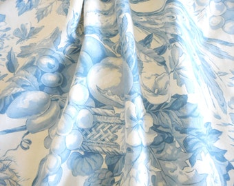 very nice fabric former with beautiful birds, flowers and blue fruit