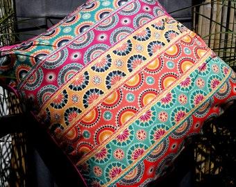 Bright Striped Throw Cushion