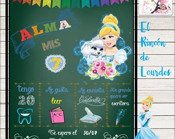 Slate chalkboard Princess Cinderella
