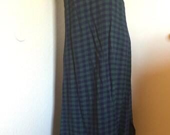 Vintage 90s Plaid Maxi Grunge Tank Dress
