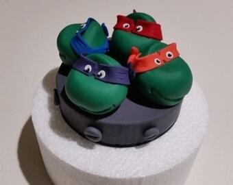 Teenage Mutant Ninja Turtle cake topper, fondant & gumpaste
