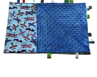 Crib Blanket Sensory Blanket tag blanket lovey lovie sensory blanket