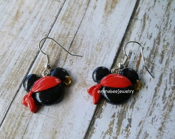 Pirate Mickey Mouse Earrings