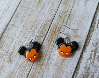Vampire Mickey Mouse Earrings