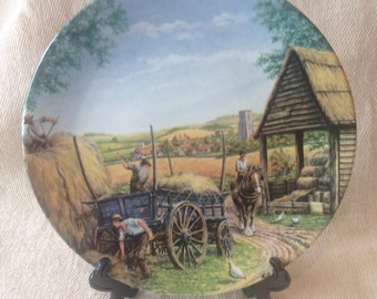 "Royal Doulton Limited Edition ""Journey Through the Village"" series plate- Hillside Farm"