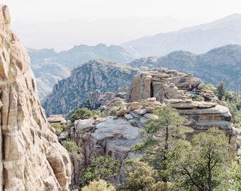 Mt. Lemmon print, mountain vista fine art print, Tucson desert photo print, Arizona print, Southwestern decor
