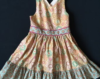 Unique Girls Sun Dress * 5 years * Vintage Retro Style * Summer Dress * Handmade in England