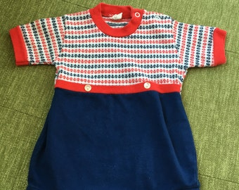 Vintage boys romper with anchors.