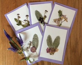 Pressed Flower Card Set