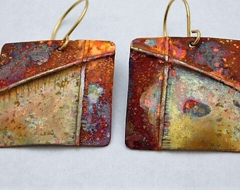 Fold Formed Square Copper Dangles