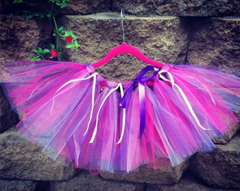 Hot Pink and Purple Tutu, Infant Tutu, Toddler Tutu, Birthday Tutu, Sparkle Tutu
