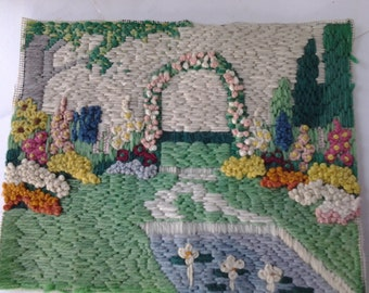 Cottage garden needlepoint