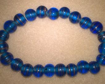 lamp work bead bracelet