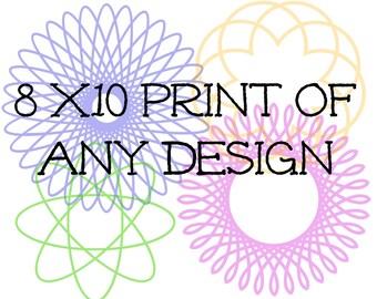 8x10 print of any design