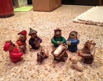 Clay Nativity Set