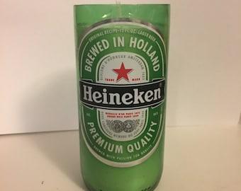 Heineken Beer Bottle Candle