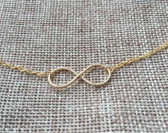 Rope Infinity Charm Necklace