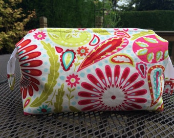 Colourful toiletry bag, cosmetic bag, wash bag, retreat bag, cosmetic storage