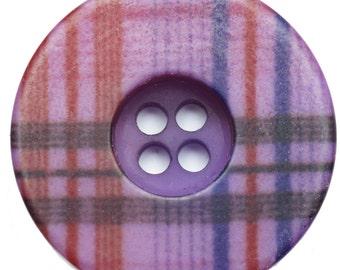 BN1863 tartan button.  2.0cm diam.