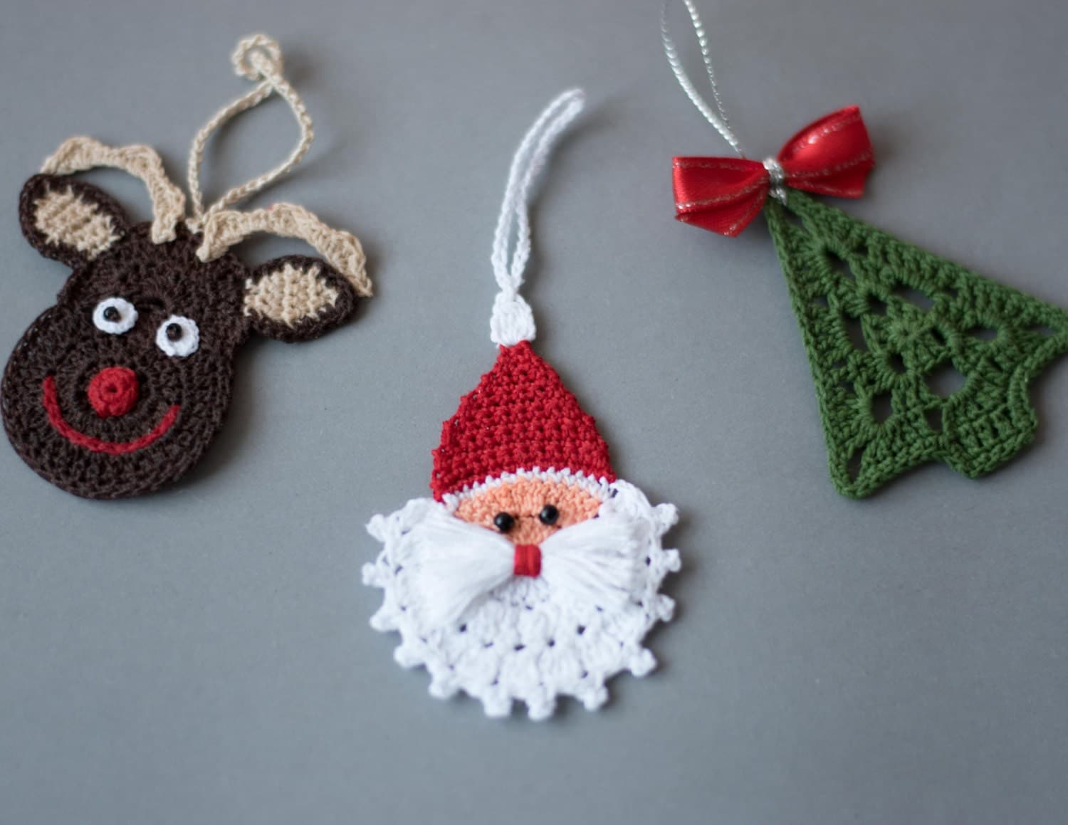 crochet christmas ornaments set of 3 ornaments crochet. Black Bedroom Furniture Sets. Home Design Ideas