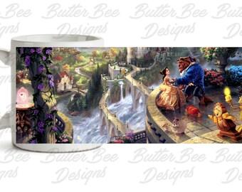 Beauty And The Beast Art Mug