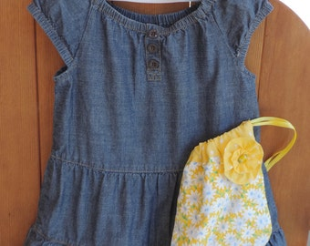 Ruffled Jumper with Matching Purse and Hair Bow Set