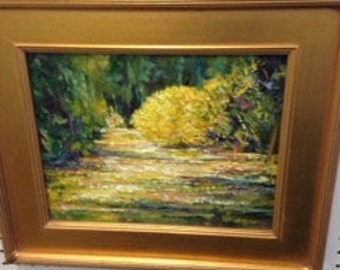 """Oil painting by Connie Glassgow. Titled """" Spot in the Sun"""""""