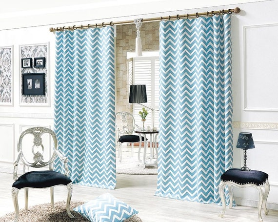 blue wave blackout curtains 50 blocks light by myhomestylist. Black Bedroom Furniture Sets. Home Design Ideas