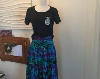 80's drop waist skirt
