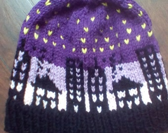 City Skyline Knit Hat