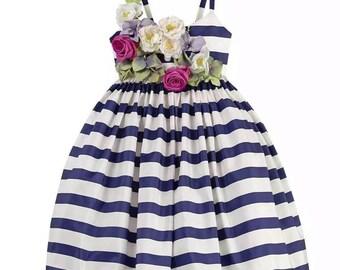 Girls cotton flower birthday party dress princess dress