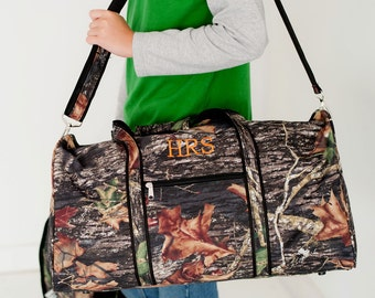 Woods Duffel Bag, FREE Personalization, Camo Duffel, Woods Toiletry Bag, Camo Toiletry Bag, Boys Luggage, Boys Personalized Luggage
