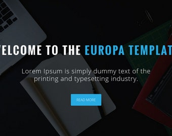 Europa - One Page Multipurpose Template